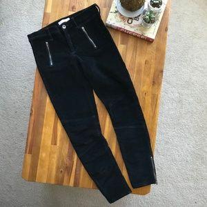 Banana Republic Skinny Black Corduroy Pants